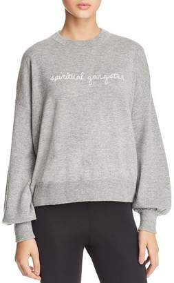 Spiritual Gangster Logo-Embroidered Sweater