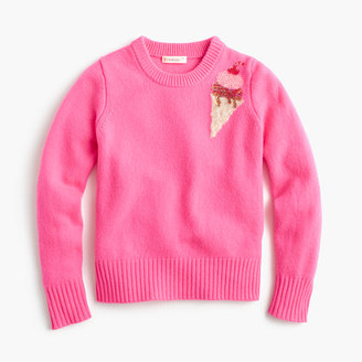 Girls' sequin ice cream sweater $65 thestylecure.com
