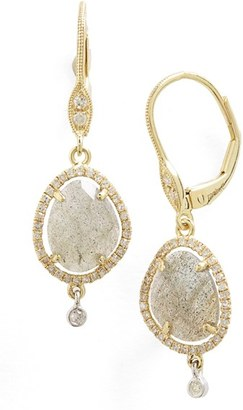 Women's Meira T Diamond & Semiprecious Stone Drop Earrings $895 thestylecure.com
