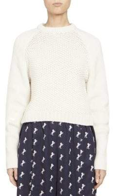 Chloé Chunky Wool Long Sleeve Knit Pullover