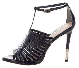 Neiman Marcus Patent Leather Caged Sandals