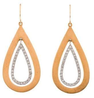 Irene Neuwirth 18K Diamond Cut-Out Drop Earrings