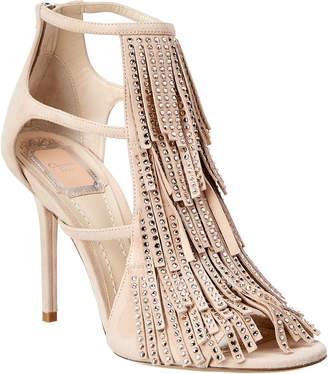 Christian Dior Studded Fringe Suede Sandal