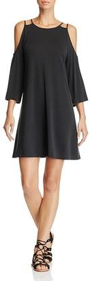 AQUA Cold Shoulder Trapeze Dress - 100% Exclusive $68 thestylecure.com