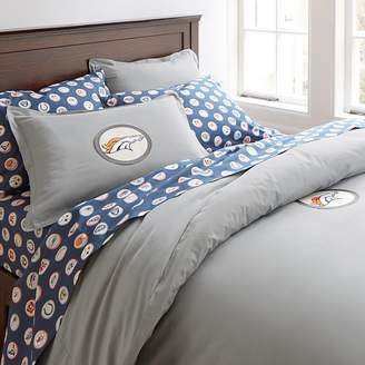 Pottery Barn Teen NFL Patch Duvet Cover, Twin, Gray, Atlanta Falcons