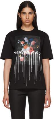 Alexander McQueen Black Paint Drip T-Shirt