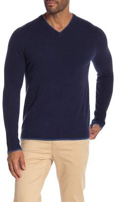 Autumn Cashmere Ribbed Sleeve Cashmere Sweater
