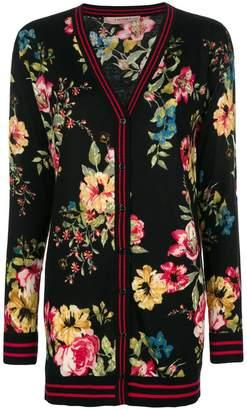 Twin-Set long line floral cardigan