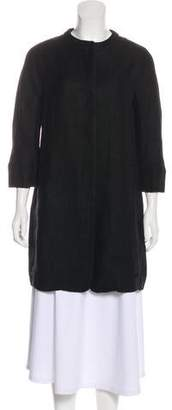 Max Mara 'S Knee-Length Collarless Coat