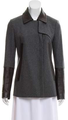 Diane von Furstenberg Leather-Accented Eva Jacket