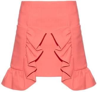 Marni Ruffled cotton-blend crepe skirt