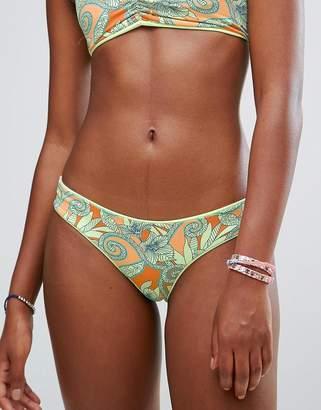 Maaji Reversible Leaf Print Hipster Bikini Bottoms
