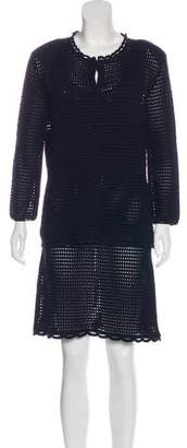 Prada Crochet Silk Dress Set
