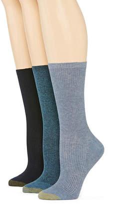 Gold Toe GoldToe Women's 3-pk. Non-Binding Crew Socks