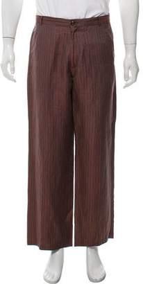 Dries Van Noten Linen Striped Pants