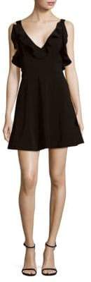 Keepsake Alluring Ruffled Mini Dress