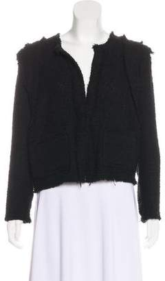 IRO Scoop Neck Textured Blazer