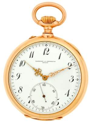 Vacheron Constantin 14K Rose Gold Vintage Pocket Watch $4,390 thestylecure.com