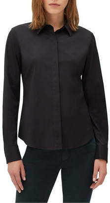 Lafayette 148 New York Phaedra Blouse in Italian-Stretch Cotton
