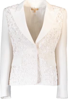 Michael Kors Embroidered Crepe Jacket