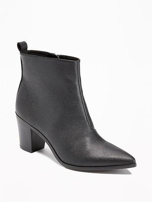 Faux-Leather Booties for Women $44.94 thestylecure.com