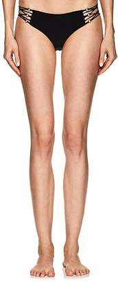 Mikoh Women's Kapena Ring-Embellished Bandeau Bikini Bottom
