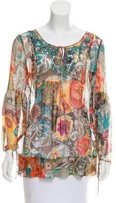 Blumarine Printed Silk Blouse