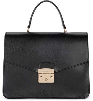 fc7ca5fad Furla Metropolis M Black Leather Handbag.