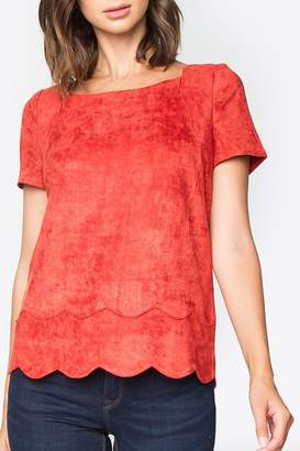 Sugar Lips Tomato Suede Top
