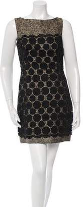 Milly Lace Metallic Mini Dress