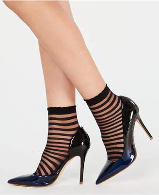 INC International Concepts I.n.c. 2-Pk. Sheer Stripe Ankle Socks