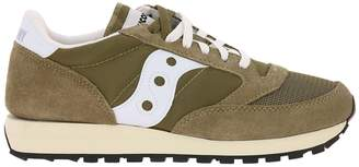 Saucony Sneakers Jazz Original Sneakers Vintage Men In Suede And Nylon With Eva Innersole
