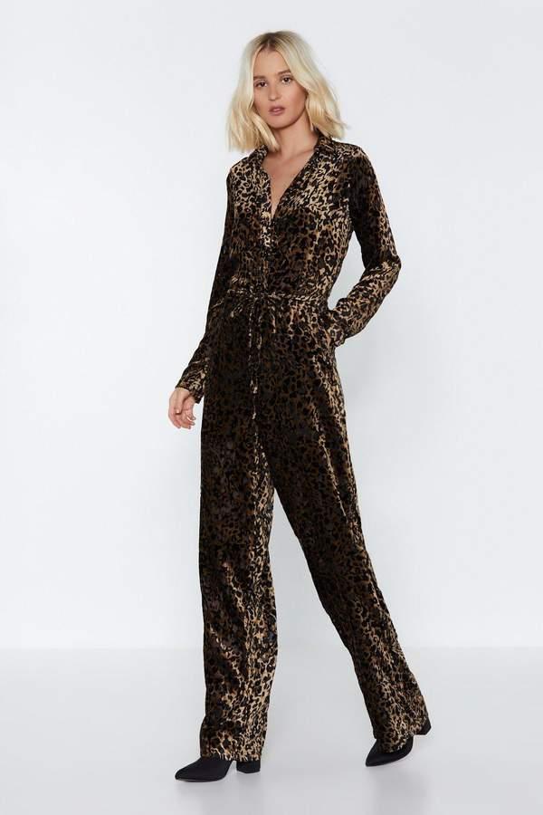 Buy Feline Better Meow Leopard Jumpsuit!