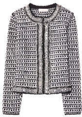 Tory Burch Embellished Tweed Cardigan