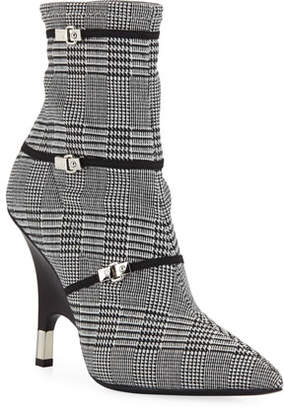 Giuseppe Zanotti Houndstooth Booties with Wedge Heel