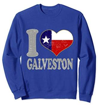 Galveston Texas Sweatshirt Clothing Texan State Pride Attire