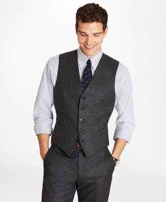 Brooks Brothers Wool Flannel Vest