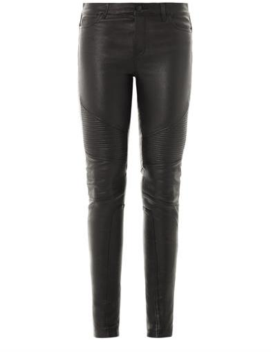Vince Mid-rise skinny leather trousers