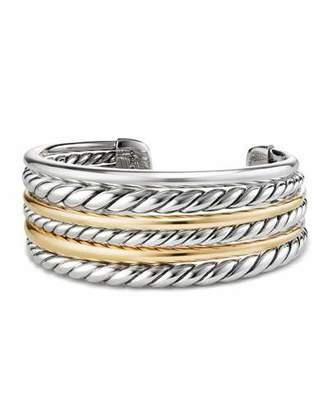 David Yurman Pure Form Multi-Row Cuff Bracelet w/ 18k Gold