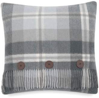 "UGG Glacier Plaid Wool Pillow - Grey - 20\""x20\"""
