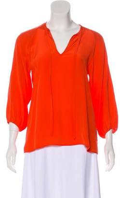 Tucker Silk Long Sleeve Blouse
