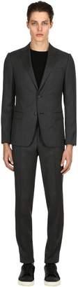 Ermenegildo Zegna Lined Plain Wool Serge Suit