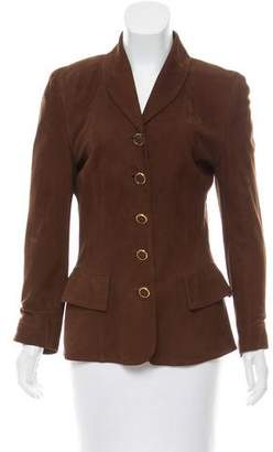 Loewe Shawl Collar Suede Jacket