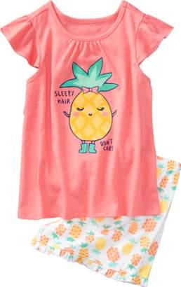 Gymboree Pineapple 2-Piece Shortie Pajamas