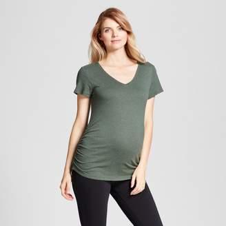 Ingrid & Isabel Isabel Maternity by Maternity Shirred V-Neck T-Shirt - Isabel Maternity by