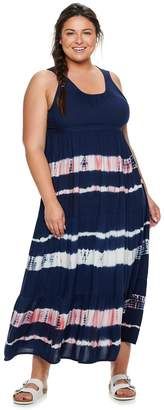 Sonoma Goods For Life Plus Size SONOMA Goods for Life Tiered Challis Dress