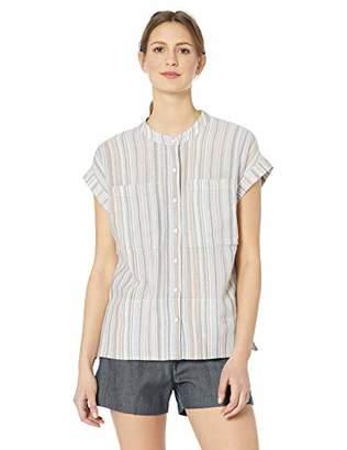 11c2e943c191 William Rast Women's Sammie Short Sleeve Button Up Shirt
