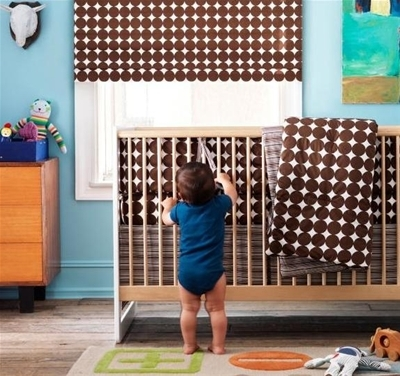 Chocolate Dots Crib Set