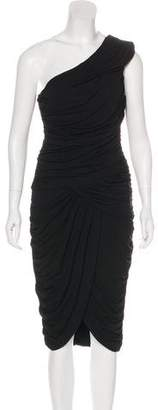 Michael Kors One-Shoulder Ruched Dress