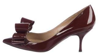 Valentino Patent Leather Pointed-Toe Pumps